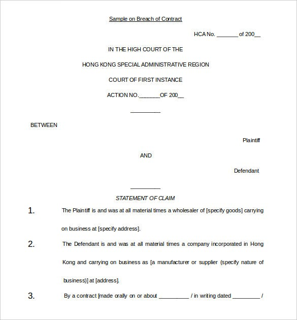 printable demand letter template breach of contract