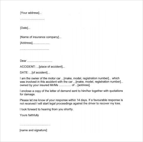 13 Demand Letter Templates Free Sample Example Format