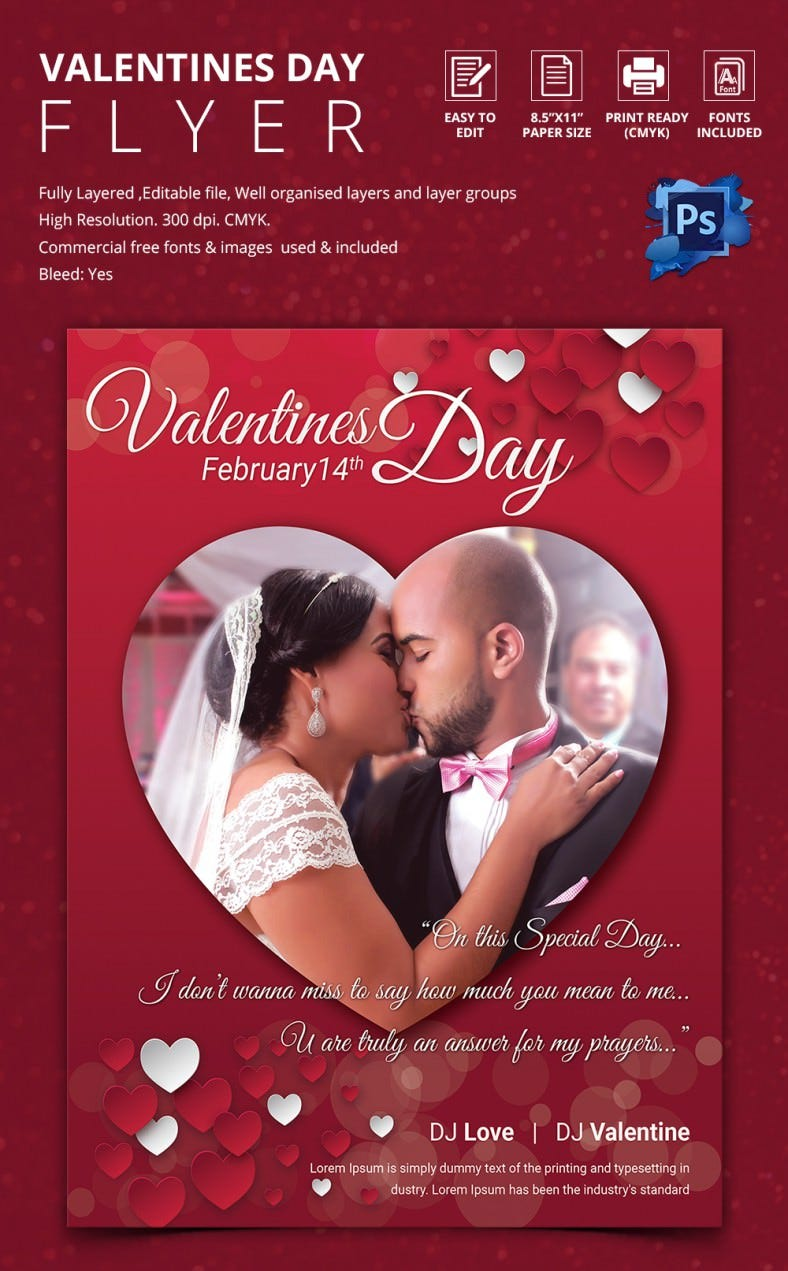 Elegant Valentine Couple Flyer Template