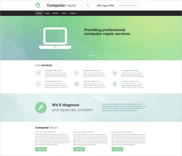 computer repair responsive moto cms 3 website theme