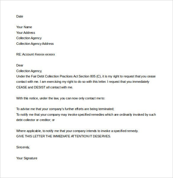 sample cease and desist letter template harassment word download