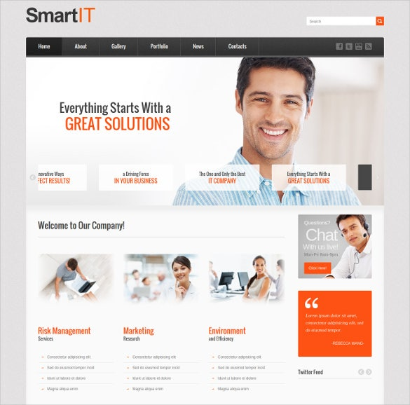 smart computer repair wordpress website theme