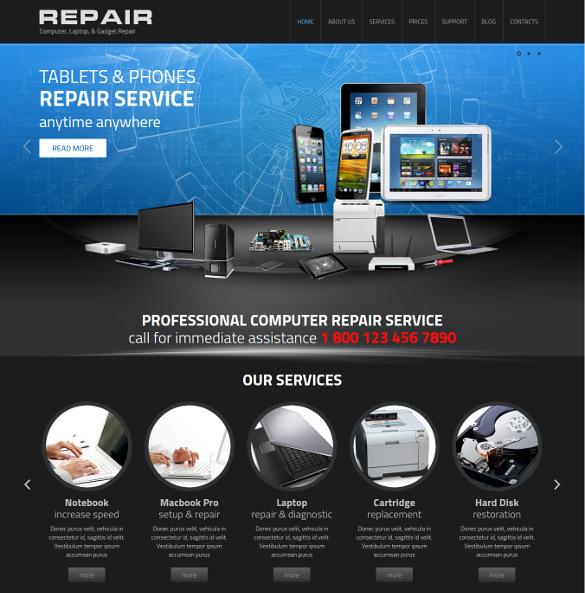 computer repair wordpress theme
