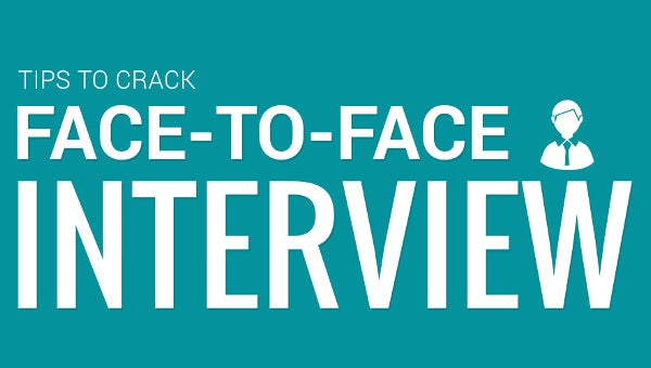 tips to crack face to face interview infographic