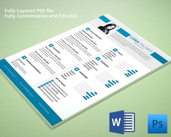 Psd resume template 51 free samples examples format download fancy art director resume yelopaper