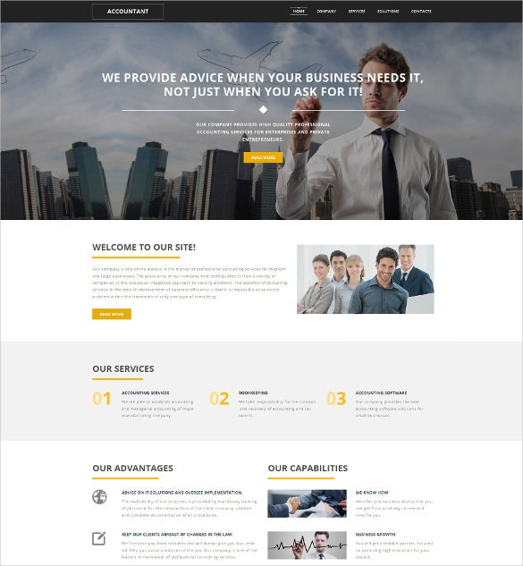 responsive accounting moto cms 3 website theme