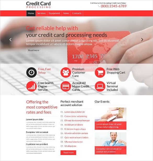 accounting wordpress website template
