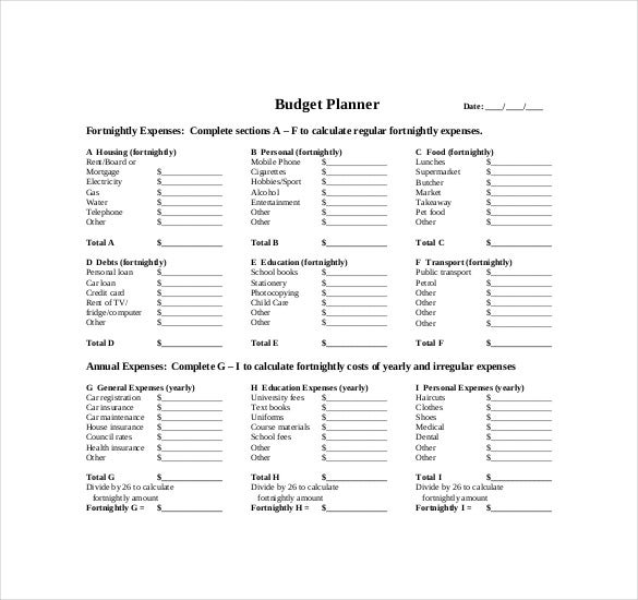 Sample It Budget Sample Monthly Budget Worksheet Sample Budget