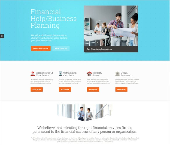 premium accounting wordpress webiste template