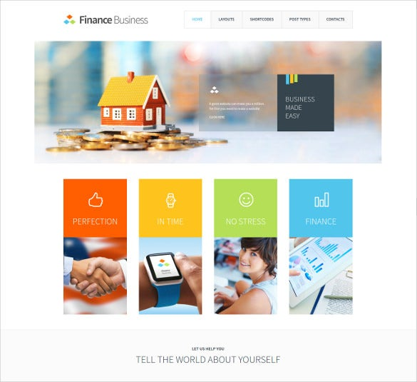accounting company office corporate website theme