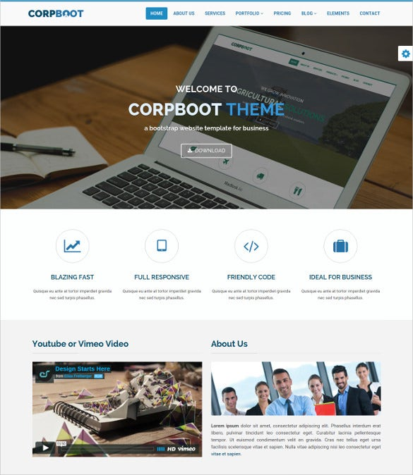 corporate accounting bootstrap website theme