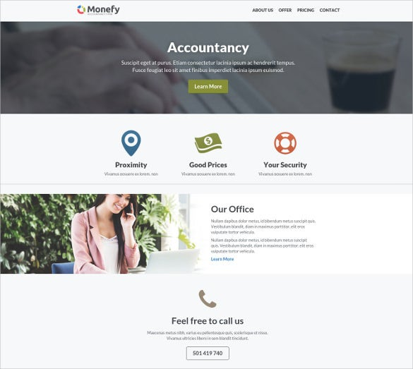 27 accounting website themes templates free premium templates small accounting business website template free demo accmission Images