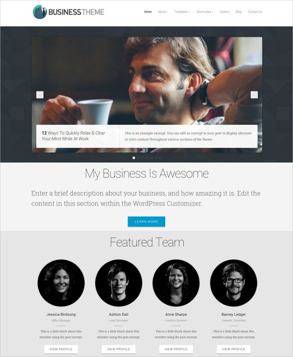 beautiful business accounting wordpress website theme