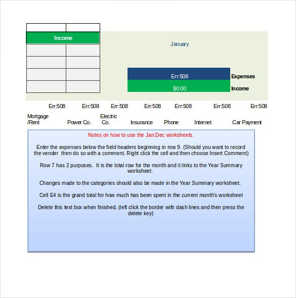 business income and expenditure budget template1