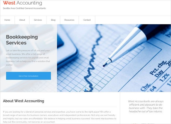 beautifully designed accounting wordpress website theme