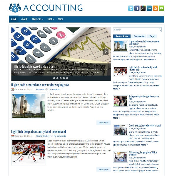 free responsive accounting wordpress website theme
