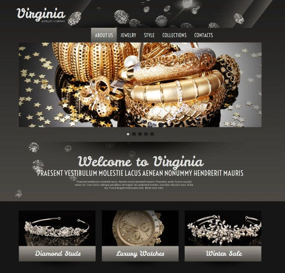 jewelry moto cms html website theme