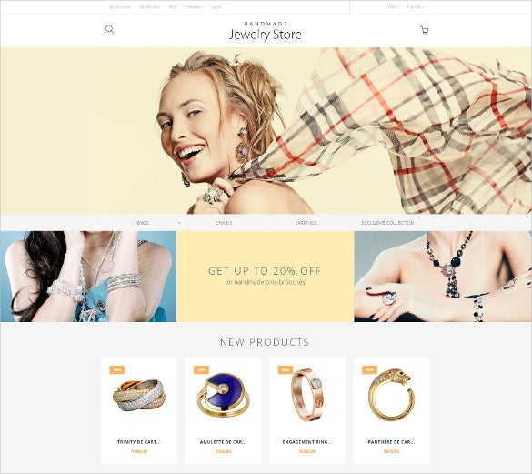 handmade jewelry magento website template