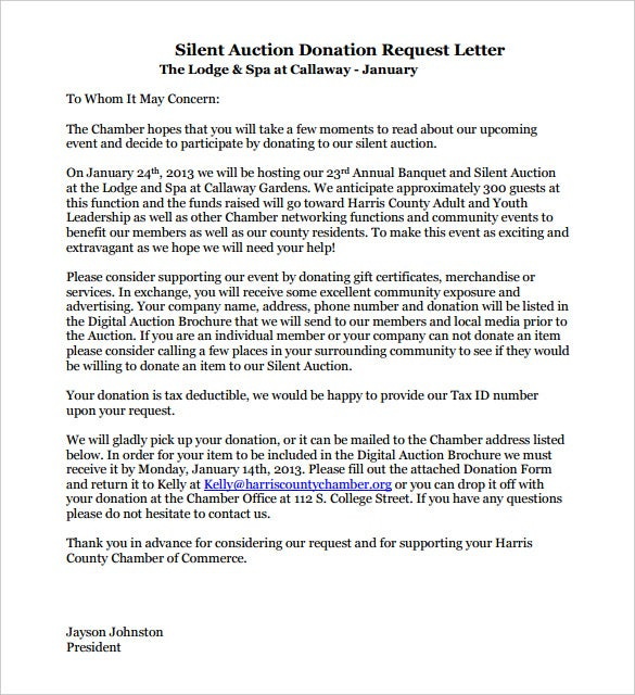 9  donation letter templates  u2013 free sample  example format download