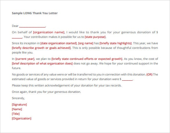 9 Donation Letter Templates Free Sample Example Format Download