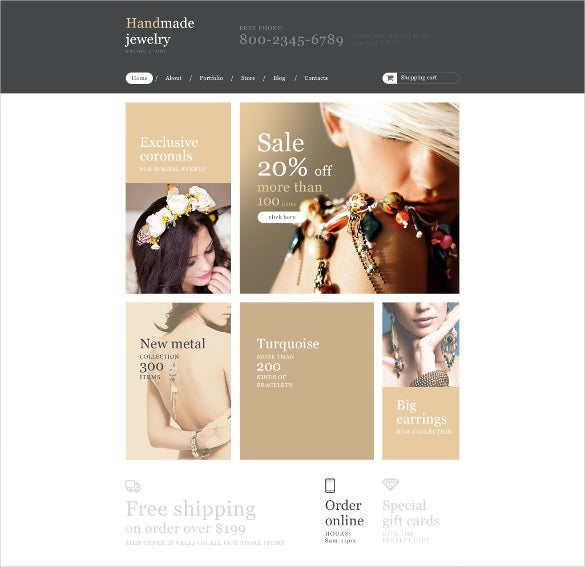handmade jewelry store woocommerce website theme