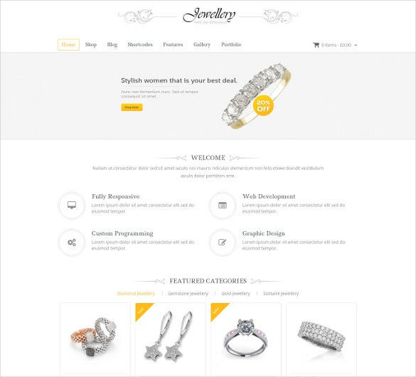 jewelry woocommerce responsive website theme