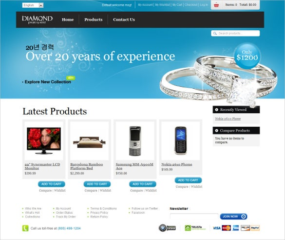 jewelry store magento website theme