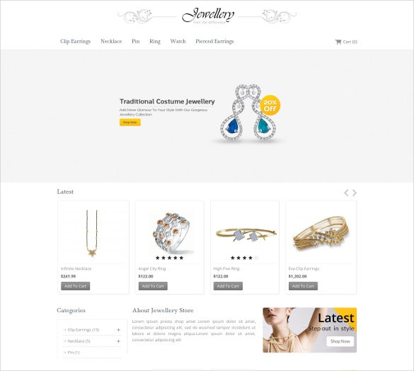 jewelry shop opencart responsive website template