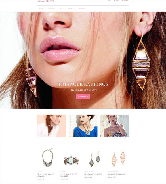 splendid jewelry ecommerce website theme
