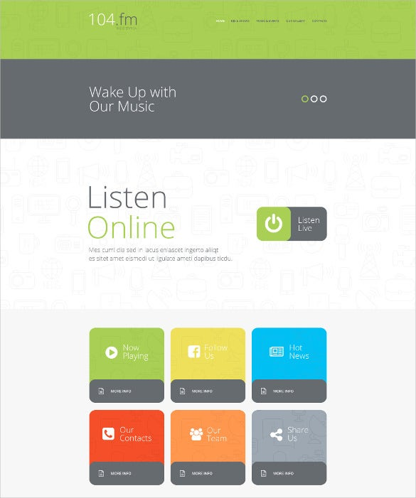 radio station website theme