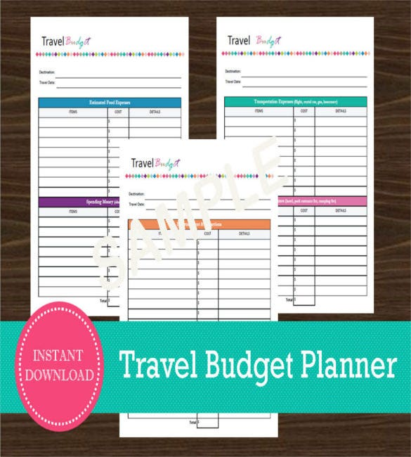 Travel Budget Templates  Free Sample Example Format Download