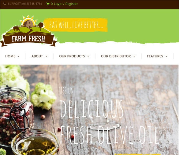 farm fresh organic products wordpress theme