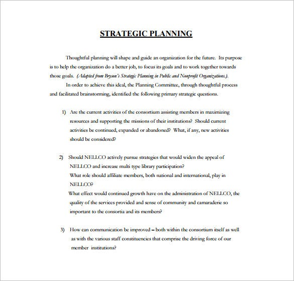 five year strategic plan pdf template free download