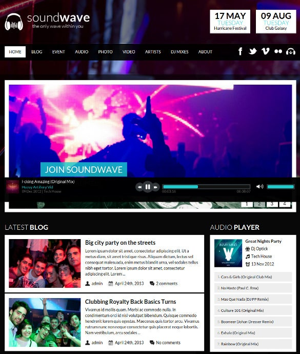 radio station vibe wordpress website theme