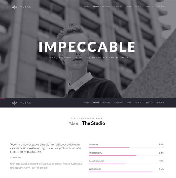 one page minimal parallax joomla template