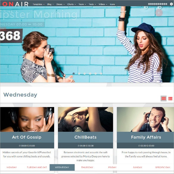 professional radio station wordpress website theme