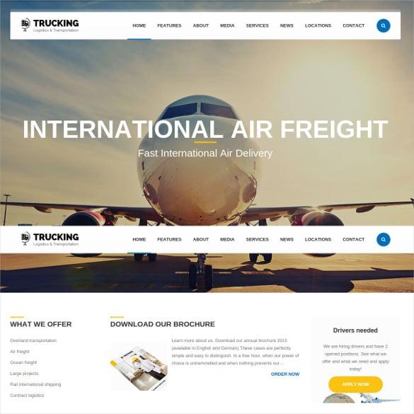 transportation logistics joomla template