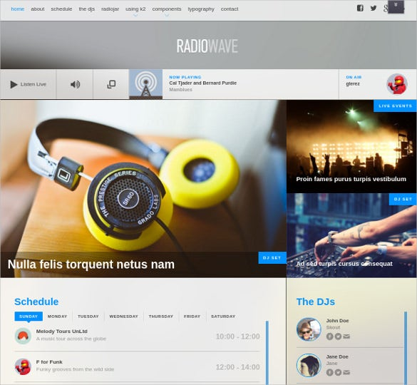 Featured Radio Station Joomla Website Theme Free Demo