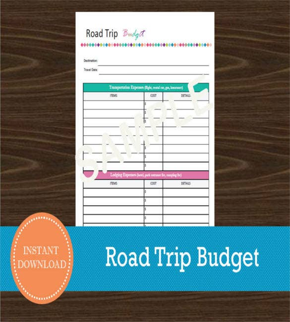 Vacation Budget Template  Free Sample Example Format