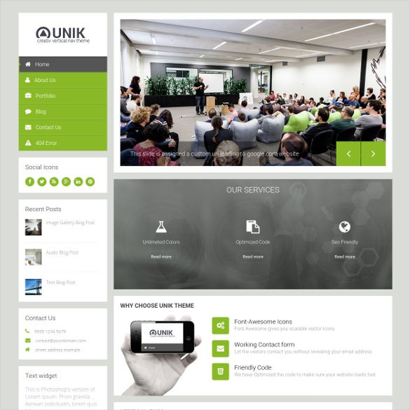 unik responsive multi purpose drupal theme