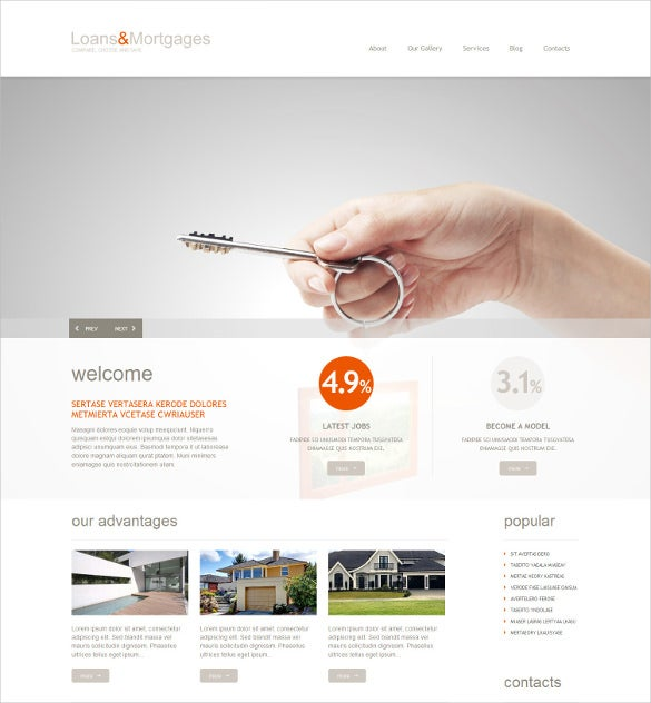 Mortgage Responsive WordPress Website Theme $75  Mortgage Templates