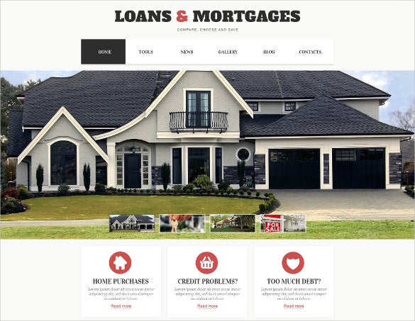 light mortgage wordpress website theme