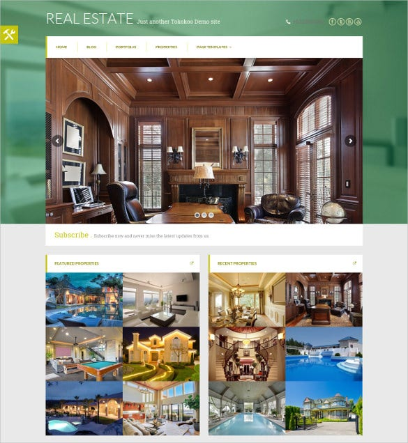 real estate mortgage woocommerce website template