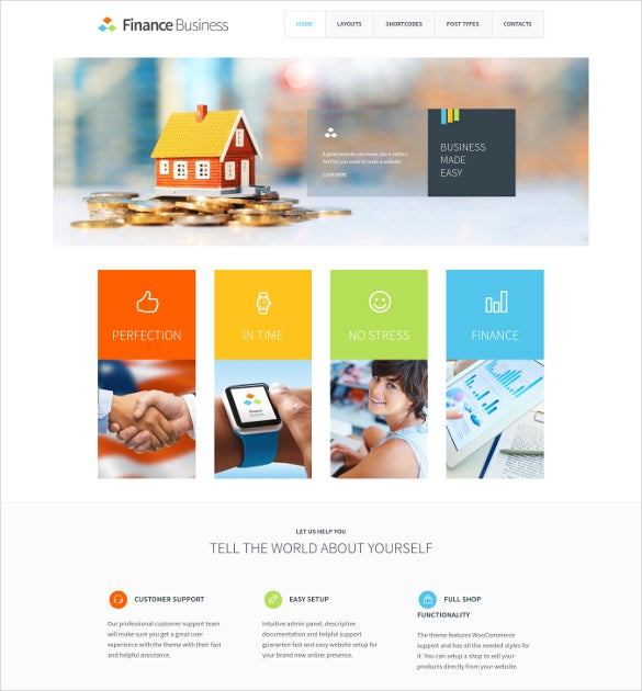mortgage business wordpress website theme