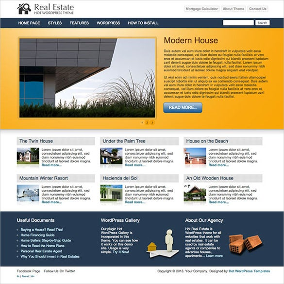 hot morgage business wordpress website theme