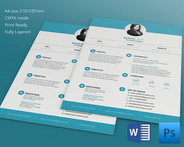 35+ Infographic Resume Templates – Free Sample, Example, Format