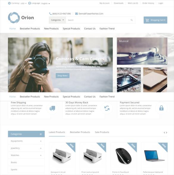 mega shop responsive ecommerce opencart theme