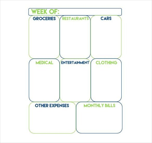 Weekly Budget Templates  Free Sample Example Format