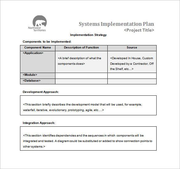 software deployment plan template