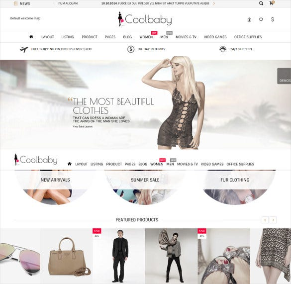 coolbaby cs cart ecommerce theme